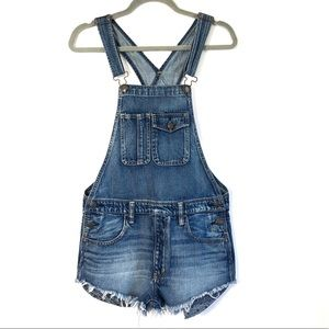 Forever 21 Shorts Overalls Denim Jeans Size XS